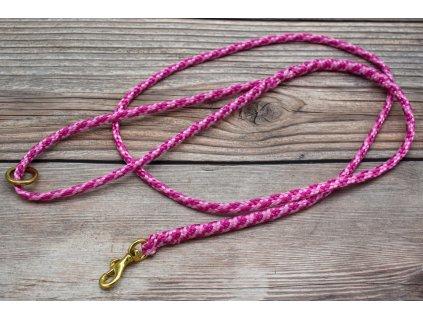 Vodítko klasické pro mini psy - délka 130 cm, ploché lano šířky 9 mm