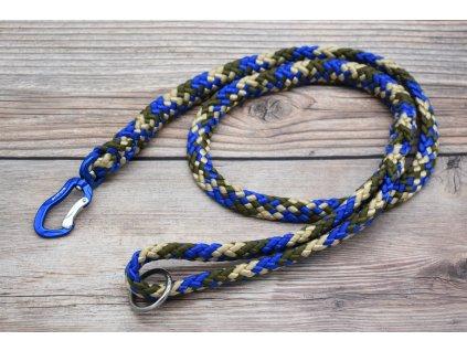 Vodítko klasické pro obří psy - délka 130 cm, ploché lano šířky 17 mm