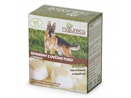 Natureca bonbóny z ovčího tuků s česnekem Maxi 250g