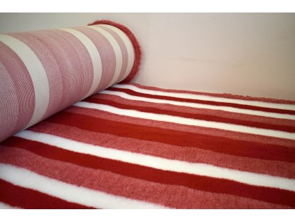 DRYBED červená bílá pruhy