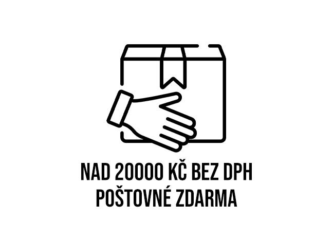 Poštovné nad 20 000 zdarma
