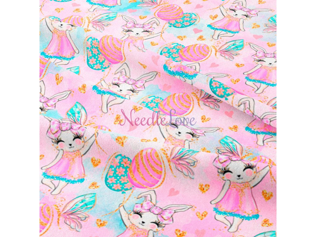 easter bunnies pink