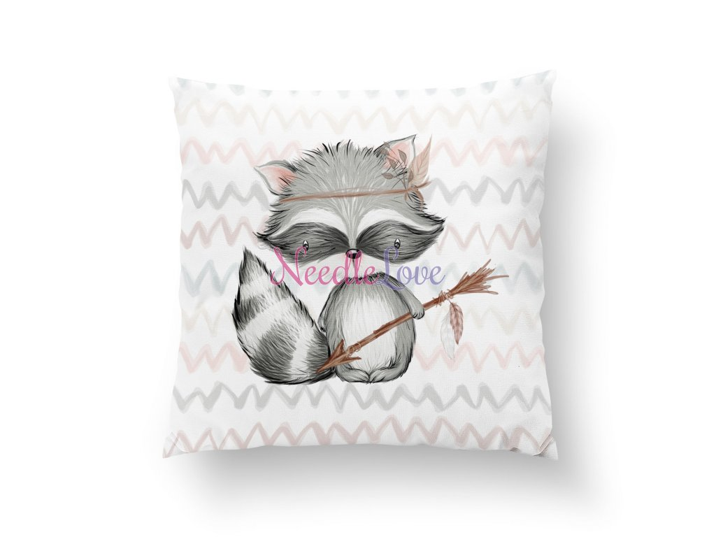 pillow m raccoon