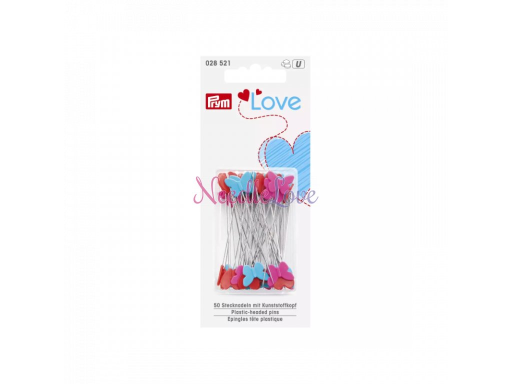 spendliky quiltovaci prym love 028 521 srdicka motylci kvetiny 50x06 mm 50 ks