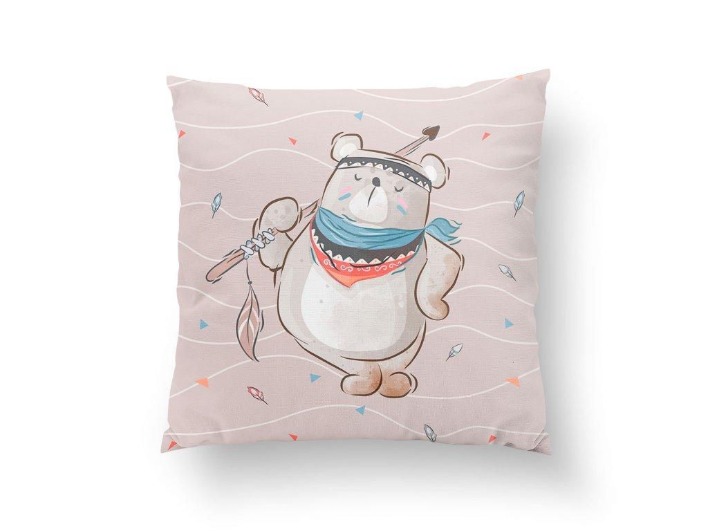 pillow 3838 panel boho bear with arrow