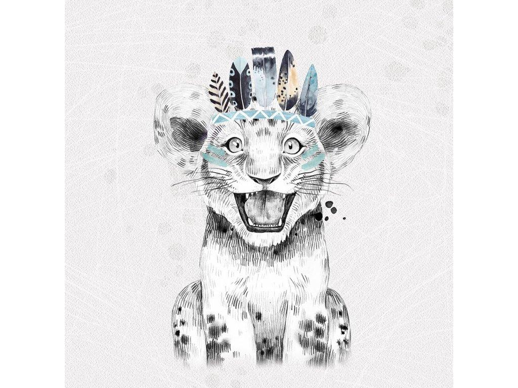 grey boho tiger boy