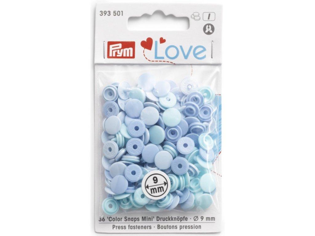 prym love mini plastove patentky color snaps sv modry mix