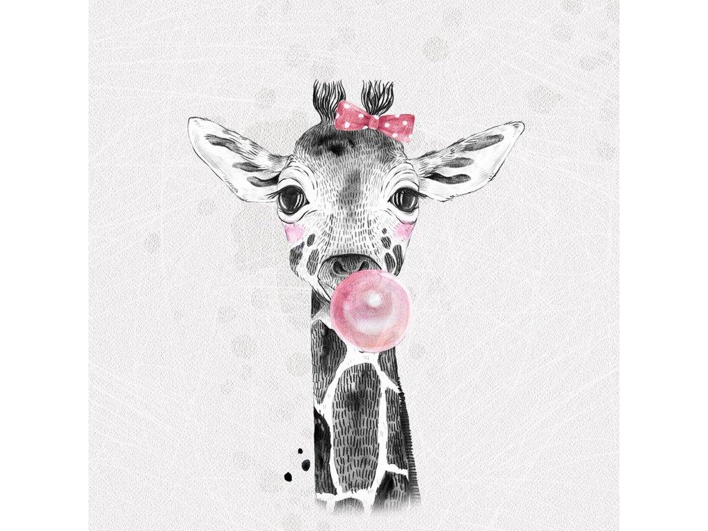 grey bubblegum giraffe