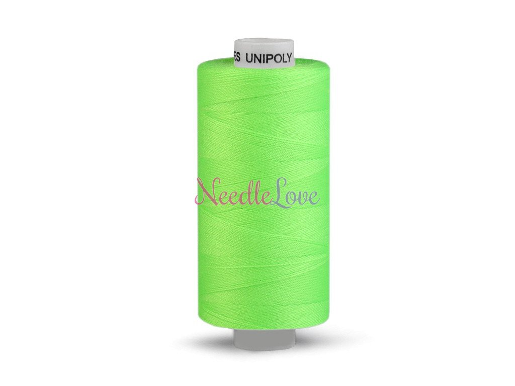 Nitě UNIPOLY 120 14x2 500 m - 613 - Zelená neon