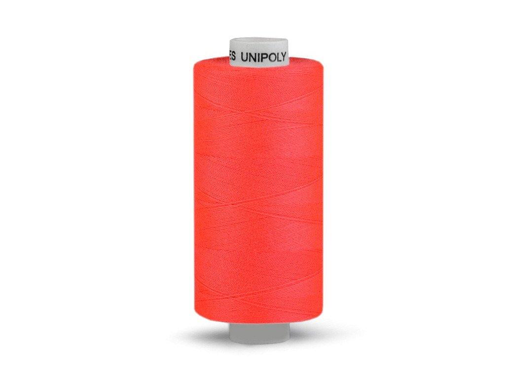 Nitě UNIPOLY 120 14x2 1000 m - 325 - Reflexní růžová