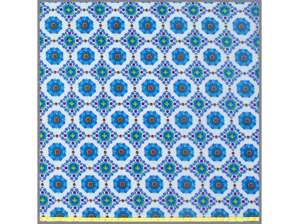 softshell blumenrauten hellgrau royalblau 2