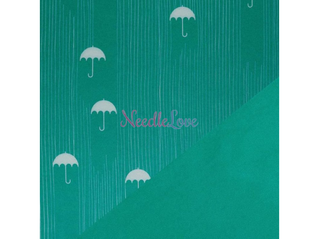 Softshell Fabric umbrella green 800x800