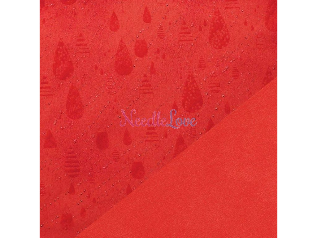 Magic Softshell Fabric Rain Red 800x800