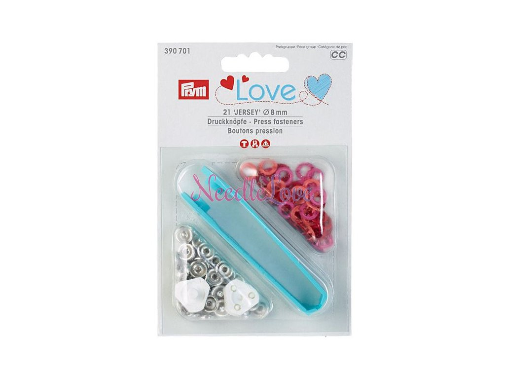 druky prym love jersey 390701 barevny mix 8 mm 21ks