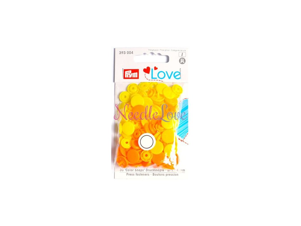 prym love plastove patentky color snaps zluty mix