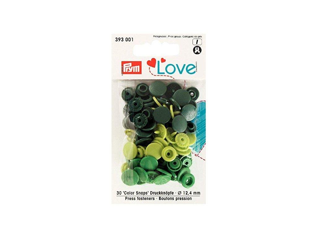 prym love plastove patentky color snaps zeleny mix