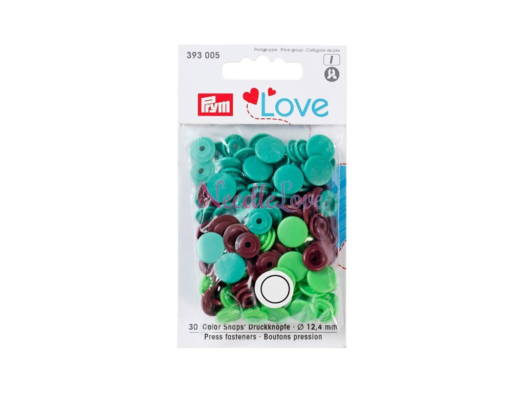 prym love plastove patentky color snaps zelenohnedy mix