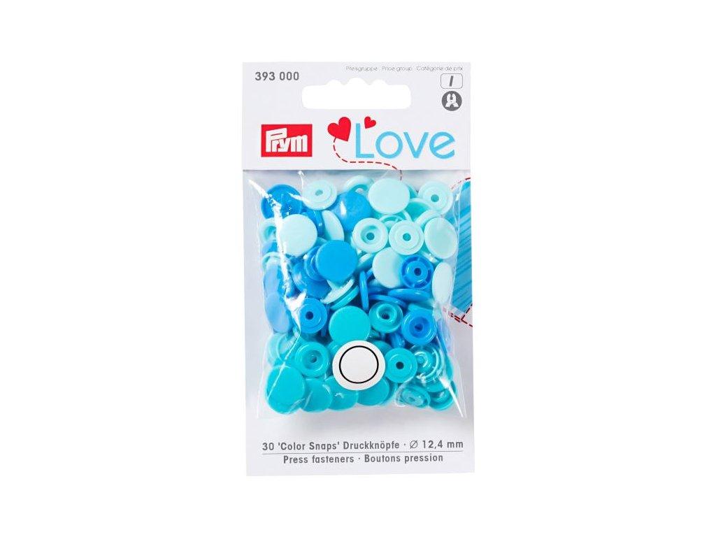 prym love plastove patentky color snaps modry mix