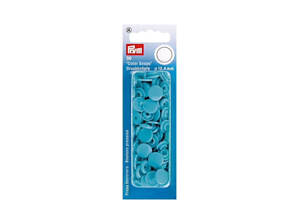 plastove patentky color snaps 12 4 mm tyrkys