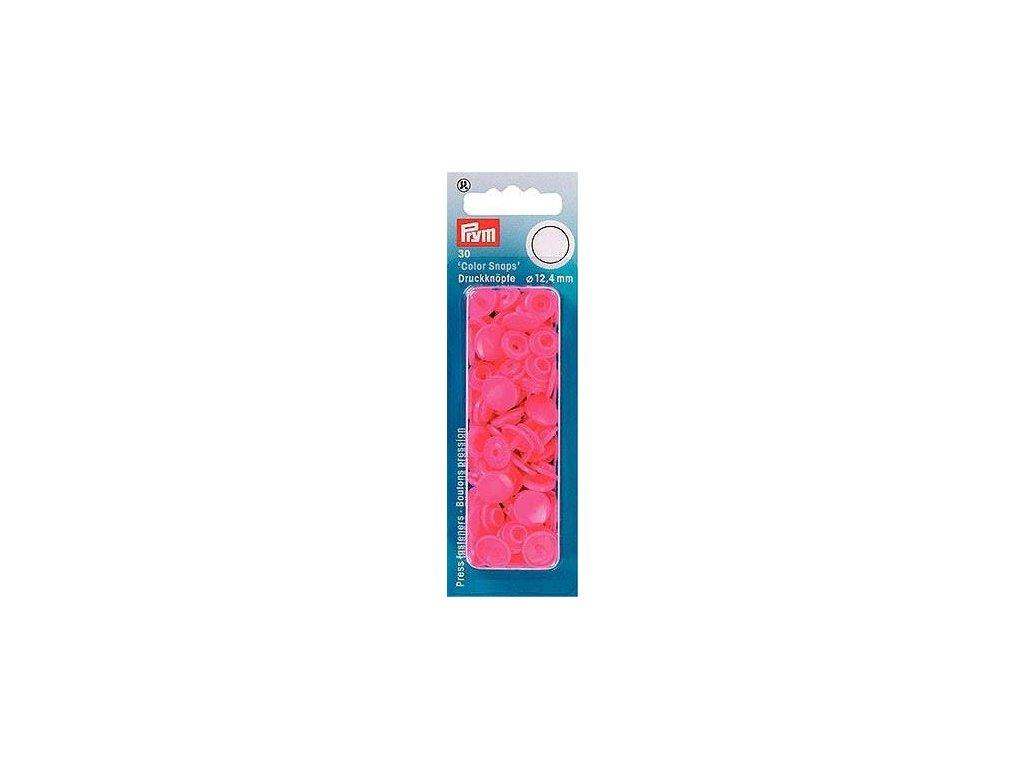 plastove patentky color snaps 12 4 mm tmave ruzova