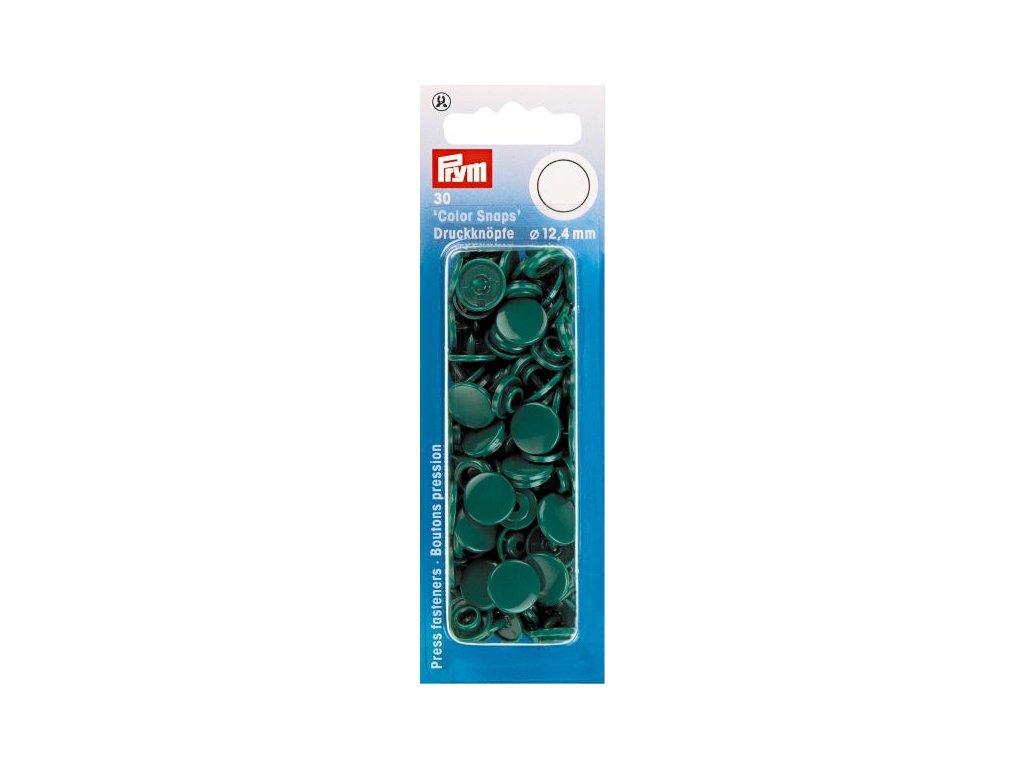 plastove patentky color snaps 12 4 mm tm zelena