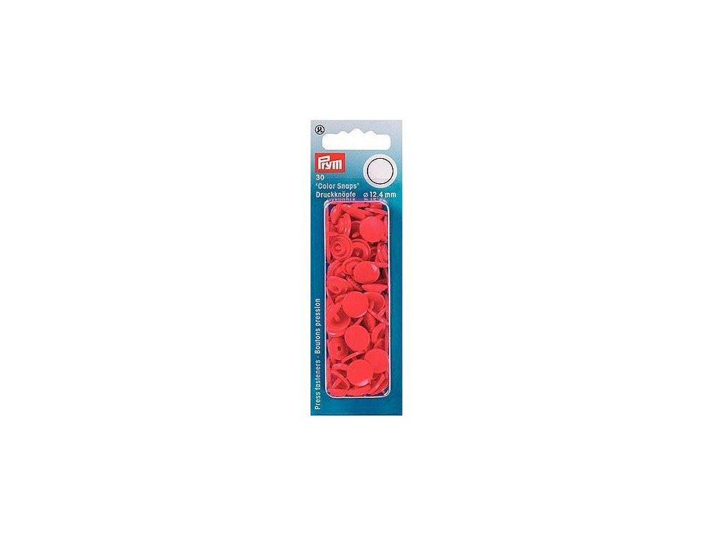 plastove patentky color snaps 12 4 mm cervena