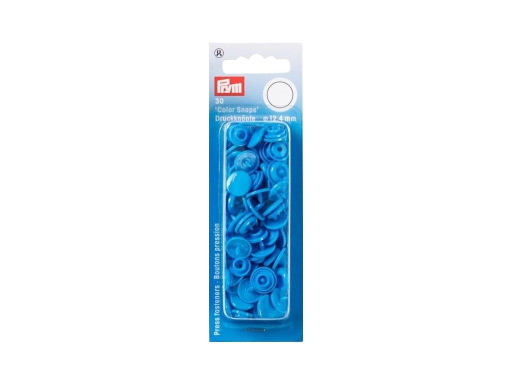plastove patentky color snaps 12 4 mm tropicka modra