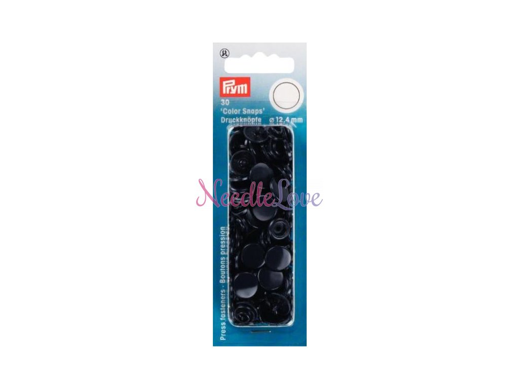 plastove patentky color snaps 12 4 mm namorni modra