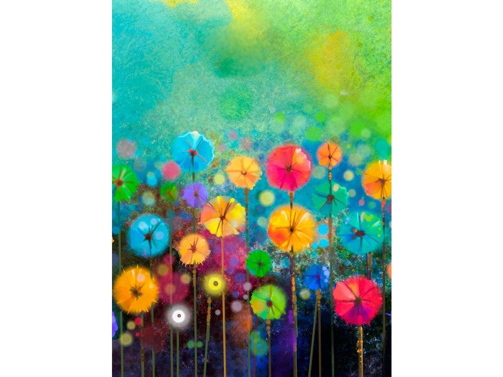 llong down colorsfull flowers
