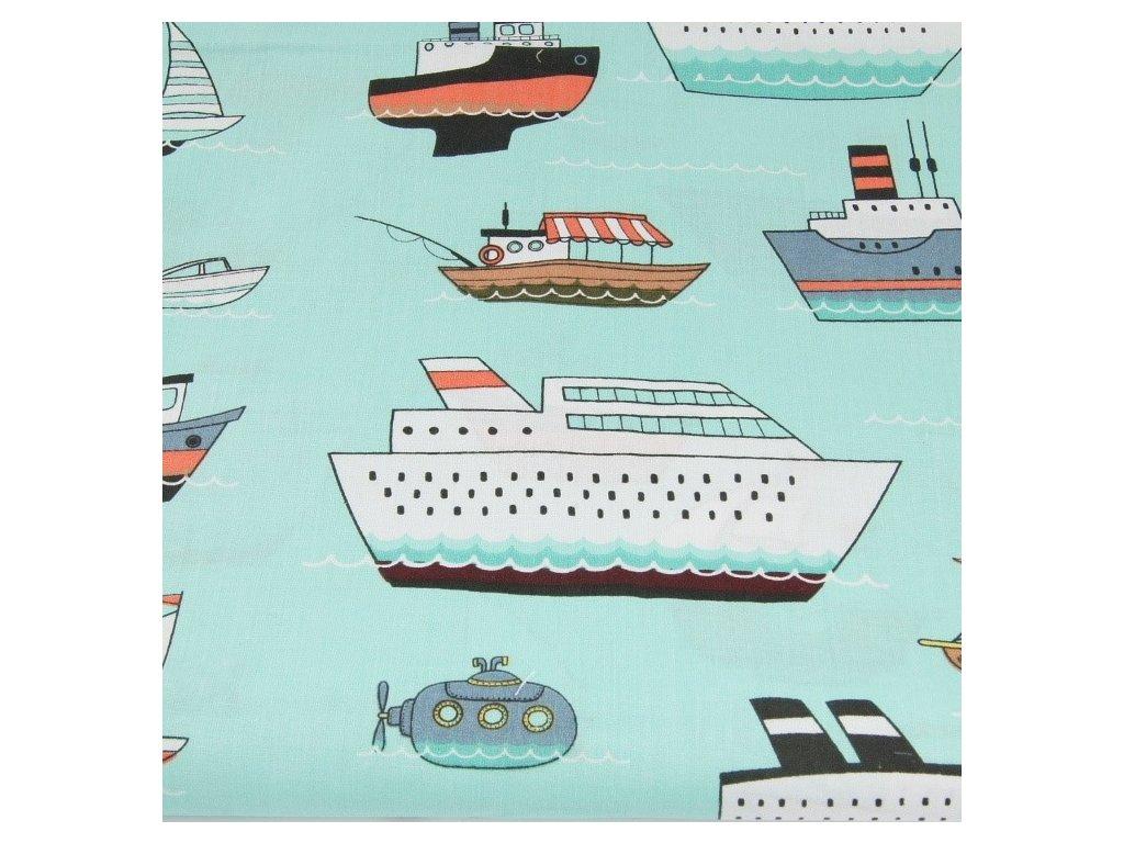 bawelna 100 statki na turkusowym tle (3)