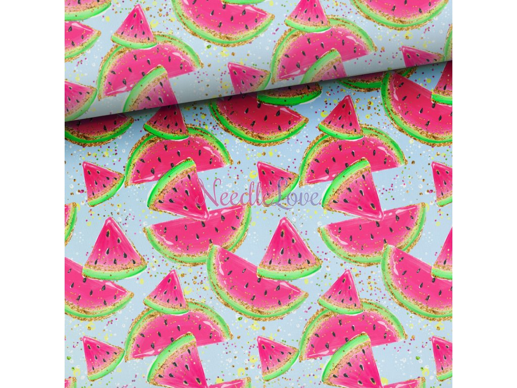 watermelons on blue