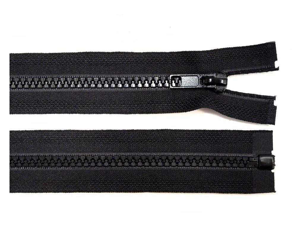 Kostěný zip šíře 5 mm - černý
