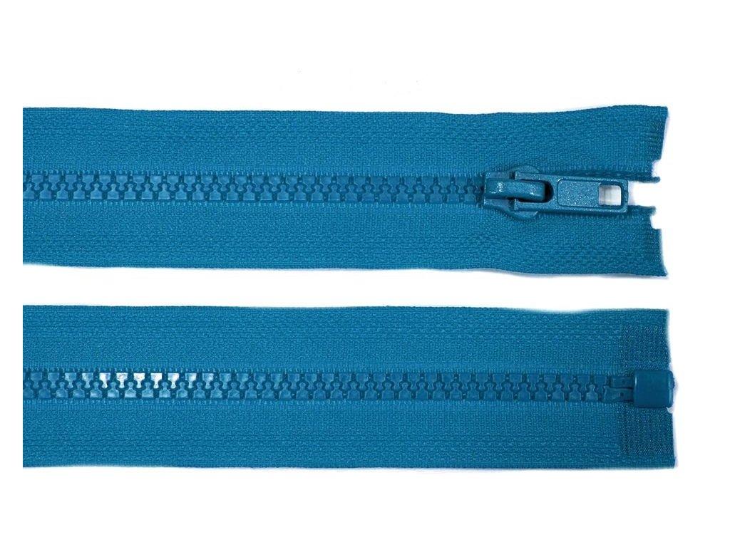 Kostěný zip šíře 5 mm - modrý