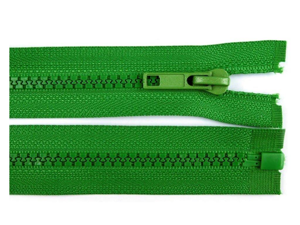 Kostěný zip šíře 5 mm - zelený