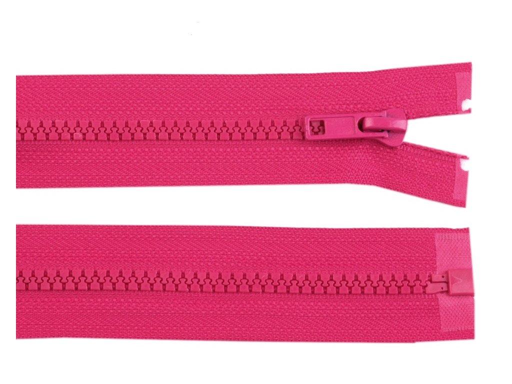 Kostěný zip šíře 5 mm - růžový