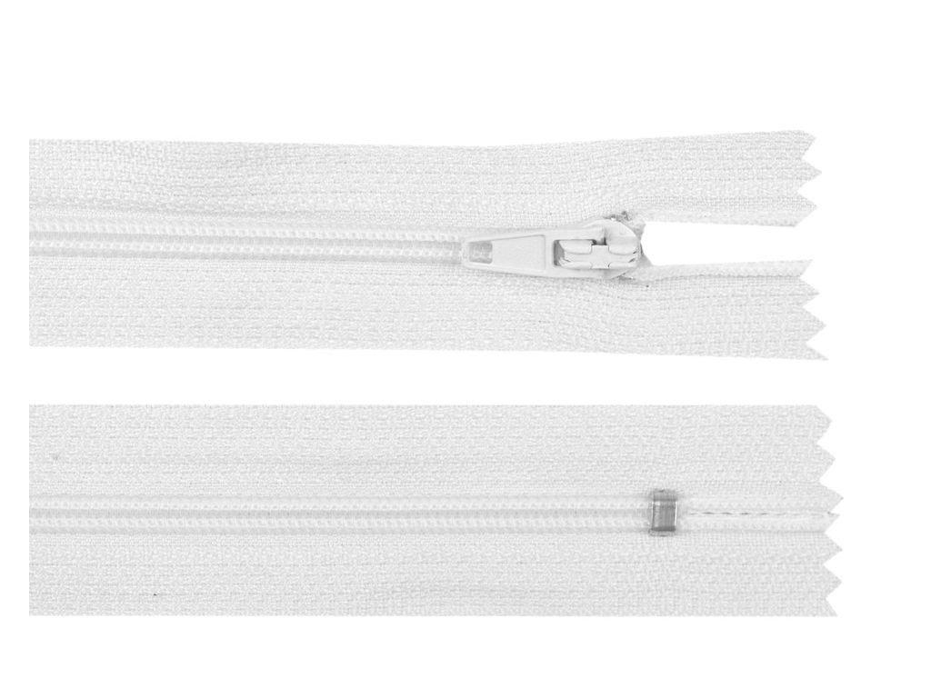 Spirálový zip šíře 3 mm - bílý autolock