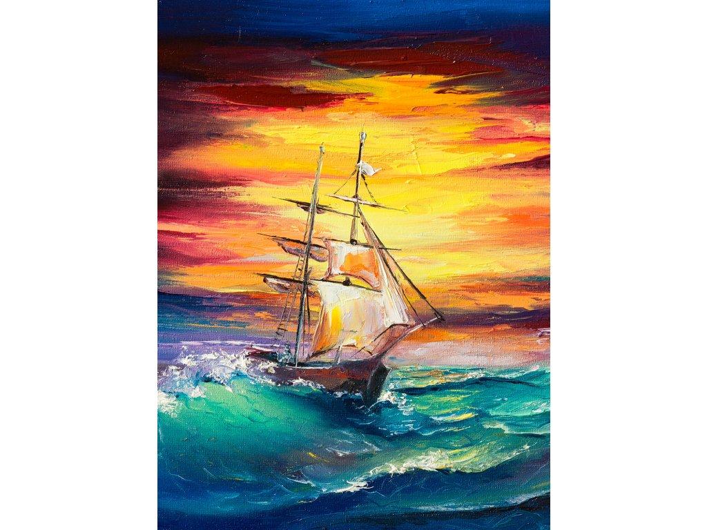 llong seaship sunset