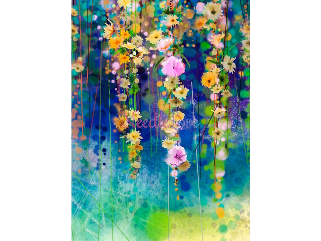 llong up blue flowers