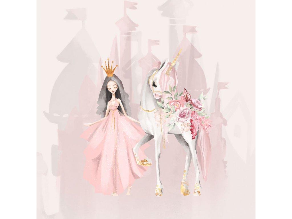 ft panel unicorn garden princess