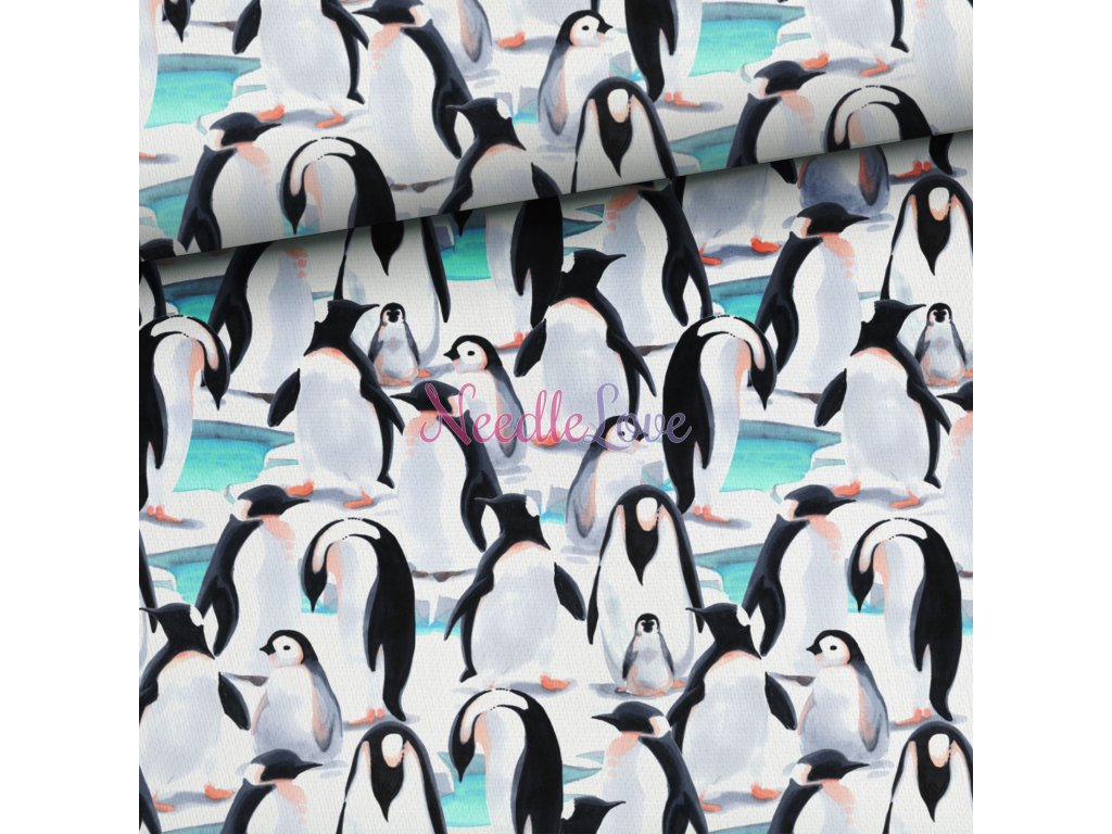 pinguin familly turquise