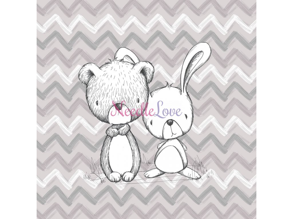 ft panel nursery bear and bunny