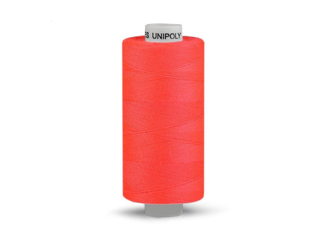 Nitě UNIPOLY 120 14x2 500 m - 215 - Reflexní oranžová
