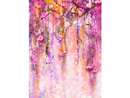 llong up purple flowers