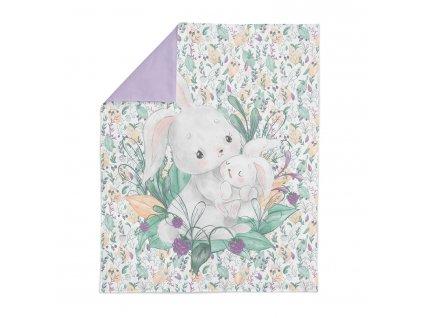 xl panel mother an baby bunnies
