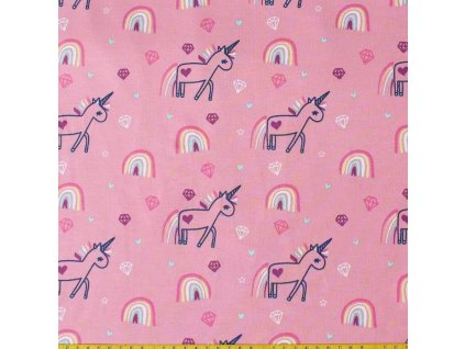 french terry angeraut shiny einhorn rosa 10 meter 3