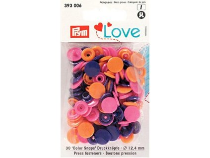 prym love plastove patentky color snaps kulate ruzova oranzova fialova
