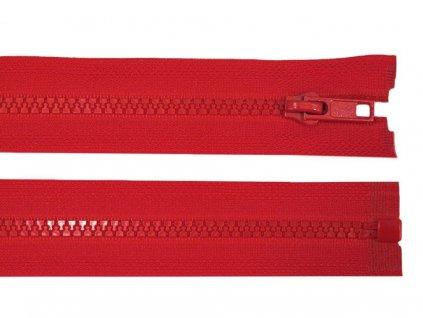 Kostěný zip šíře 5 mm - červený