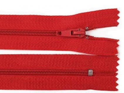 Spirálový zip šíře 3 mm - červený pinlock