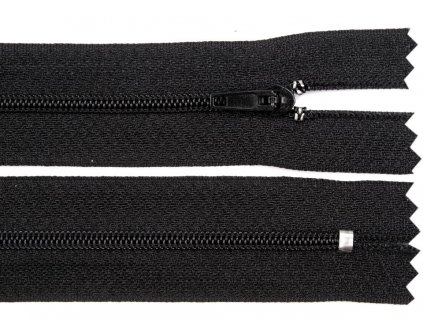 Spirálový zip šíře 3 mm - černý pinlock