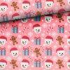 winter fun snowman pink